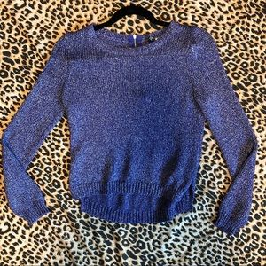 Sparkly Blue Sweater
